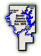 Baxter County, AR - County Map